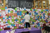Día de la poesía: mural poético